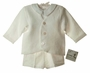NEW Gordon and Company Ivory Linen Eton Suit with Shorts