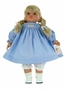 "<img src=""http://site.grammies-attic.com/images/blue-sold-1.gif""> NEW Rosalina Doll with Blue Smocked Birthday Dress"