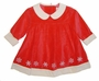 NEW Polly Flinders Red Velvet Baby Dress and Matching Diaper Cover with Embroidered Snowflakes