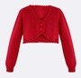 "<img src=""http://site.grammies-attic.com/images/blue-sold-1.gif""> NEW Sarah Louise Red Cardigan Bolero Style Sweater"