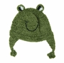 NEW Green Knit Frog Hat for Babies and Toddlers