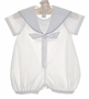 NEW Sophie Dess White Sailor Romper with Navy Trim