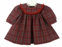 NEW Bailey Boys Red Plaid Float Dress with Red Ruffled Trim
