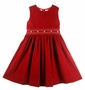 "<img src=""http://site.grammies-attic.com/images/blue-sold-1.gif""> NEW Sarah Louise Red Corduroy Jumper with Smocked Waist"