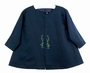 "<img src=""http://site.grammies-attic.com/images/blue-sold-1.gif""> NEW Willbeth Navy Coat with Red and Green Embroidery"