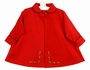 NEW Willbeth Red Coat with Floral Embroidery