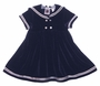"<img src=""http://site.grammies-attic.com/images/blue-sold-1.gif""> NEW Good Lad Navy Velvet Sailor Dress"