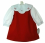 NEW Rosalina Red Reversible Jumper and Blouse Set with Removable Holiday Collar