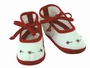 NEW Willbeth Red and White Shoes with Red Rosebuds