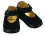 NEW Black Velveteen Mary Jane Style Baby Shoe with Satin Bow