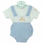 NEW Sarah Louise Blue Checked Sunsuit with Duck Applique