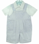 NEW Sarah Louise Navy and White Shortall Set with White Shirt