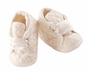 NEW Sarah Louise Boys Ivory Silk Quilted Christening Shoes with Ribbon Ties