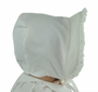 NEW Bailey Boys White Pinwale Corduroy Bonnet with Ruffled Trim