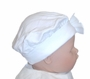 """<img src=""""http://site.grammies-attic.com/images/blue-sold-1.gif""""> NEW White Cotton Knit Beret with White Satin Bow"""