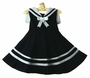NEW Rare Editions Navy Sleeveless Sailor Dress with White Collar