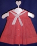 C. I. Castro Red Checked Sleeveless Sailor Dress for Baby Girls