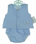 "<img src=""http://site.grammies-attic.com/images/blue-sold-1.gif""> NEW Royal Child Blue Diaper Set with Embroidered Lamb"