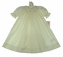 "<img src=""http://site.grammies-attic.com/images/blue-sold-1.gif"">  NEW Petit Ami Pale Yellow Bishop Smocked Gown"