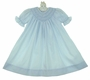 NEW Petit Ami Pale Blue Bishop Smocked Gown