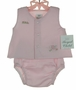 NEW Royal Child Pink Diaper Set with Embroidered Lamb