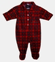 "<img src=""http://site.grammies-attic.com/images/blue-sold-1.gif""> NEW Red Plaid Footed Pajamas for Baby Boys"