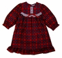 NEW Red Plaid Nightgown with White Eyelet Trim for Little Girls