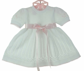 White Sweater Dress on Sweater Dress White Baby Dress White Cotton Dedication Outfit Baptism