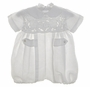 "<img src=""http://site.grammies-attic.com/images/blue-sold-1.gif""> NEW Victorian Heirlooms White Linen Romper with Battenburg Yoke"