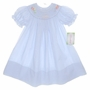 NEW Rosalina Blue Checked Bishop Smocked Birthday Dress