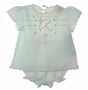 NEW Will'Beth White Voile Diaper Set with Umbrella Embroidery
