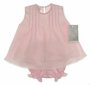 "<img src=""http://site.grammies-attic.com/images/blue-sold-1.gif""> NEW Willbeth Pink Linen Diaper Set with Pintucks and Embroidery"