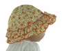NEW Sarah Louise Orange and Yellow Flowered Ruffled Sunhat