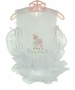 NEW Willbeth Ruffled Diaper Set with Baby Deer Embroidery