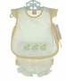 NEW Willbeth Yellow and White Diaper Set with Duck Embroidery