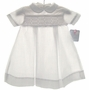 NEW Petit Ami White Smocked Daygown Back Buttons