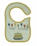 NEW Yellow and White Terry Cloth Bib with Happy Birthday Applique