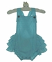 NEW Retro Style Aqua Dotted Swiss Ruffle Bottom Sunsuit