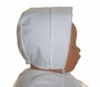 NEW Will'beth Heirloom Style White Batiste Baby Bonnet with Embroidery