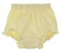 NEW Girls Yellow Cotton Knit Diaper Cover with Ruffled Trim