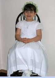 NEW Fantaisie Kids Elegant White Cotton Smocked Dress with Embroidered Rosebuds (CC08109)