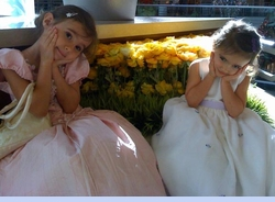 <strong>Ali in Polly Flinders Princess Dress and Emily in Cinderella Dress</strong>