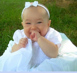 NEW Fantaisie White Cotton Smocked Christening Gown with Pintucks and Embroidery (CR0813)