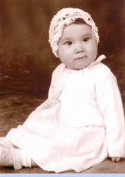 <strong>Baby Raegan Renee in Heirloom 1920s Tatted Bonnet</strong>