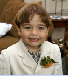 <strong>Baby Ryan in Heirloom 1940s White Linen Suit</Strong>