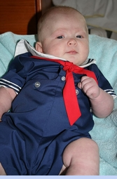 NEW C. I. Castro Navy Button On Sailor Suit for Baby Boys (SS0401N)