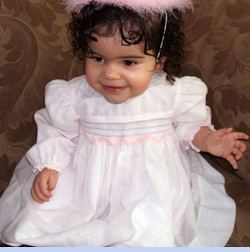 Baby Alyssa Nicole In Sarah Louise Smocked Dress