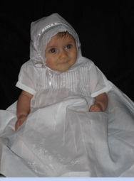 NEW Feltman Brothers Long Christening Gown with Pintucks and Embroidery (CC0533)