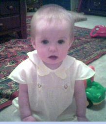 <strong>Baby Sophie in Vintage 1930s Romper</strong>