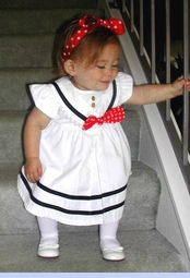 <strong>Baby Olivia in Shirley Temple Style Sailor Dress</strong>